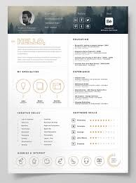 Stylish Resume Templates Resume Template Icons 100 Images Free Resume Template Material