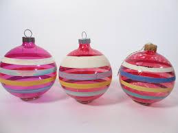 Egyptian Glass Christmas Ornaments Set Of 3 Clear Glass Unsilvered Christmas Ornaments Clear