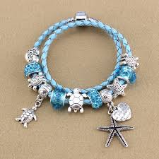 diy glass bead bracelet images New women diy magic crystal charm chain leather bracelet bangles jpg