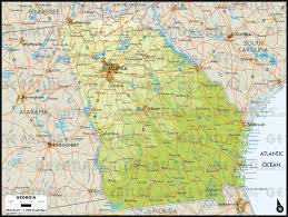 Map Georgia Usa by Geoatlas United States Canada Georgia Map City Illustrator