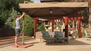 Patio Umbrellas With Led Lights by Vrienden Offset Cantilever Umbrella With Lights Youtube