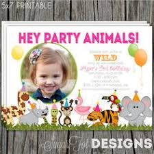 zoo animal birthday party invitation template http www