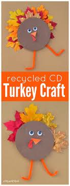 thanksgiving dvd recycled cd turkey kid craft thanksgiving craft and cd crafts