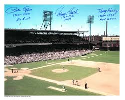 lot detail crosley field 16x20 stat photo signed by pete rose