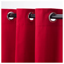 merete curtains 1 pair red 145x250 cm ikea