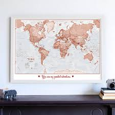Norfolk County Wall Map Framed Personalised World Is Art Map By Maps International