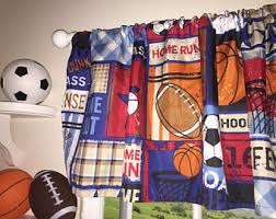 Soccer Curtains Valance Soccer Curtains Etsy