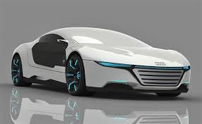 concept car of the audi a9 concept car repairs itself and changes color