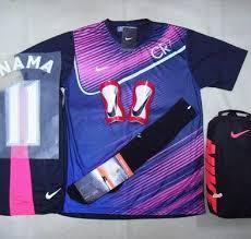 Baju Gambar Nike setelan kaos futsal bola nike cr7 navy pink rumah jersey