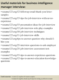 Non Profit Program Director Resume Sample by Top 8 Business Intelligence Manager Resume Samples