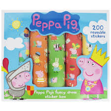 peppa pig sticker box craft activities for kids at the works