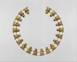necklace ornaments frogs aztec or mixtec the met