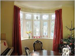 How To Hang Curtains On A Bay Window Corner Curtain Rod Curtains For Bay Window With Large Bay Window