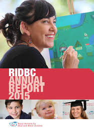 Royal Institute Blind Royal Institute For Deaf And Blind Children Annual Report 2015 By