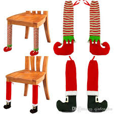 Chair Feet Covers Elf Stockings And Slippers Christmas Chair Leg Covers Christmas