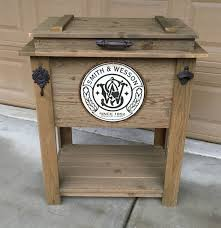 Decorative Coolers For The Patio by Rustic Wooden Cooler Is Great For A Man Cave Outdoor Bar Cart