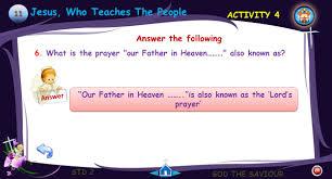 std 2 god the saviour std 2 god the saviour teachings of jesus