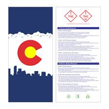 Colorado Flag Marijuana Kraft Colorado Compliant Marijuana Bags Marijuana Packaging