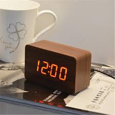 modern square desk table wood u0026wooden clock digital alarm clocks