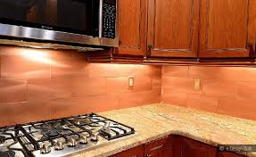 Using Copper Backsplash For Kitchen Modern Kitchen - Copper backsplash