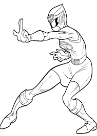 ranger blue ninja storm coloring pages color dance