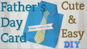 simple and easy handmade father u0027s day card shirt and tie card diy