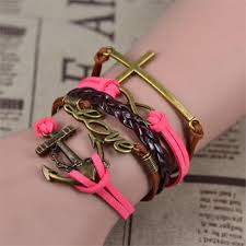 infinity love leather bracelet images Infinity love leather charm handmade bracelet jpg