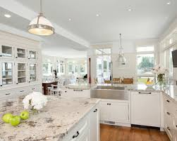 classy white kitchen cabinets with white granite countertops cute