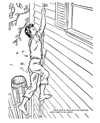 outside of the house adventures of huckleberry finn coloring pages huck climbed down