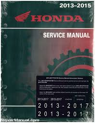2013 2017 honda pcx150 scooter service manual