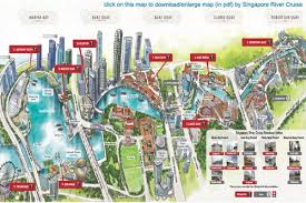 Map Of Singapore Singapore River Cruise Map Map Of Singapore River Cruise