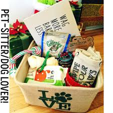 pet gift baskets a thank you gift basket i made for our pet sitter dog and