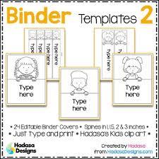 editable binder covers and spines templates 2 hadasa u0027s kids edition