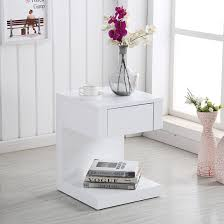 white gloss side table dixon bedside table in white high gloss with 1 drawer 28935