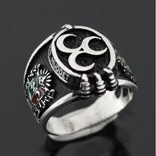 Ottoman Empire Jewelry Coat Of Arms Of Ottoman Empire Ring In Sterling Silver From