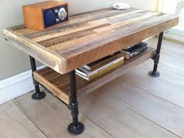 wood and pipe table design of rustic industrial coffee table rustic industrial reclaimed