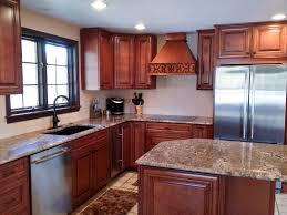 Dark Kitchen Cabinet Furniture Cozy Silestone Vs Granite With Wood Tile Flooring And