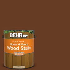 behr 1 gal sc 110 chestnut solid color house and fence wood