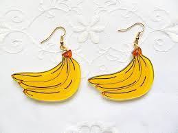 90 s earrings big banana earrings kawaii 90s earrings