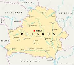 minsk russia maps belarus political map with capital minsk national borders