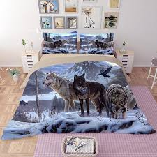 Wolf Bedding Set Beautiful Wolves Bedding Set Blenfy Store