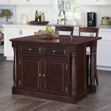 cottage style kitchen island with granite insert small stools with