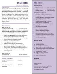 administrative resume template cv template admin assistant amazing admin resume exles