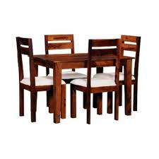 4 Seater Dining Table And Chairs Solid Wood 4 Seater Dining Set At Rs 15000 Wooden Dining