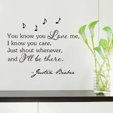 inspirational quotes wall sticker you know you love me i know you