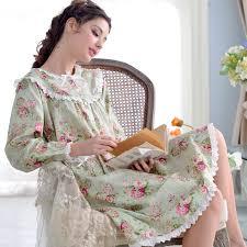 women u0027s 100 cotton printed floral nightdress long sleeves sleep
