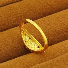 new arrival fashion 24k gp gold plated mens women jewelry ring toss picture more detailed picture about new arrival
