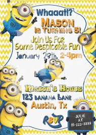 army birthday invitations 17 best ideas about minion birthday invitations on pinterest