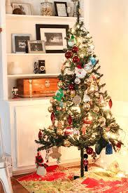 christmas tree made of ornament balls christmas lights decoration