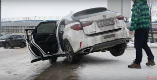 2017 lexus rc 200t new lexus rx 200t struggles to climb stairs in russian test